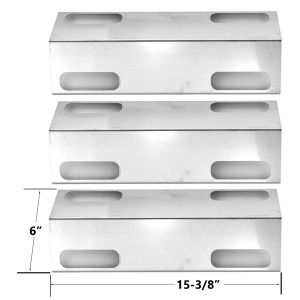 3 PACK UNIVERSAL STAINLESS STEEL HEAT PLATE FOR DUCANE AFFINITY 3000 SERIES, 3073101, AFFINITY 3073101 GAS GRILL MODELS