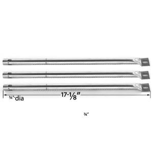 3 PACK REPLACEMENT STAINLESS STEEL BURNER FOR AMANA AM26LP, AM26LP-P, AM27LP, AM30LP, AM30LP-P, AM33, AM33LP, AM33LP-P GAS GRILL MODELS